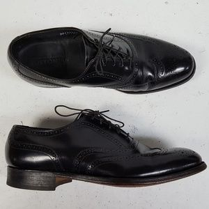 Bostonian USA Black Leather Wingtip Oxfords